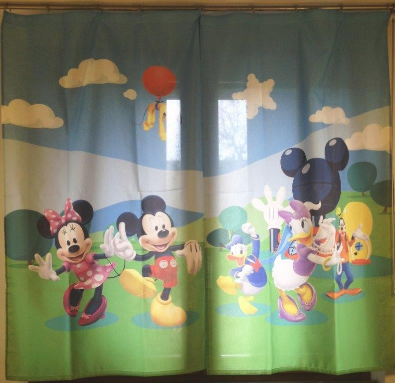 Home Disney Mickey Mouse Coppia di Tende per la Cameretta 180x160 cm