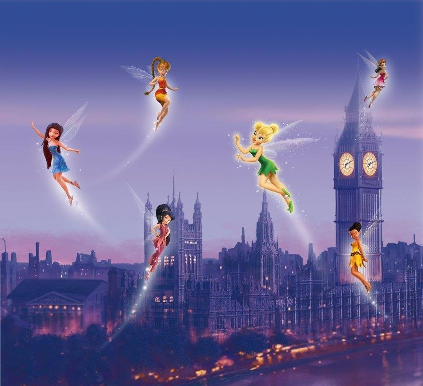 Home Trilli Disney Fairies Coppia di Tende per la Cameretta 180x160 cm